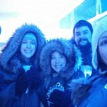 The team in the Ice Bar