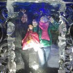 Leah and Ben trapped in a ice wall