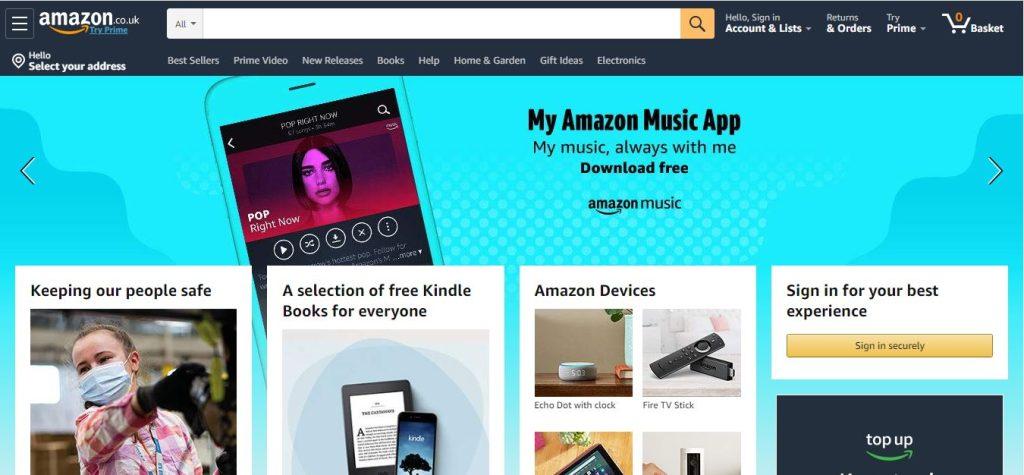 Amazon website.