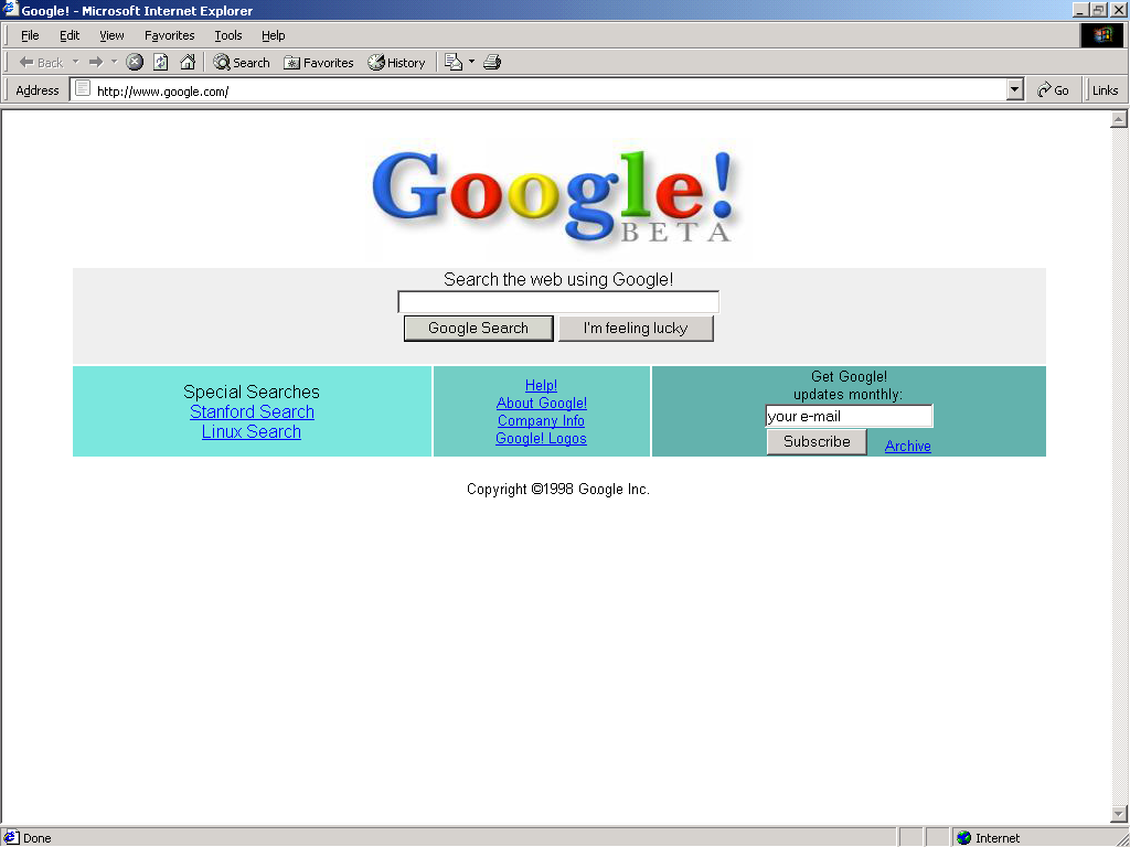 white space is important - Google in 1998
