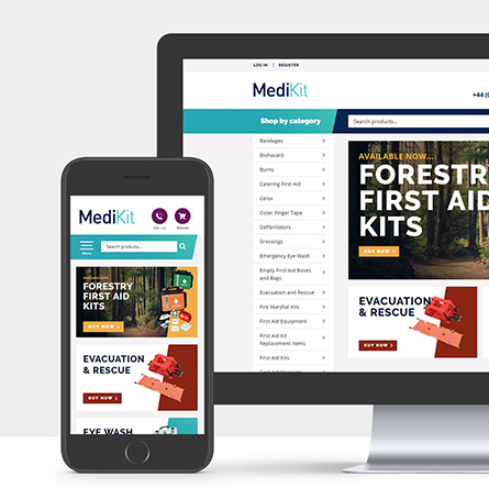 medikit website showcase