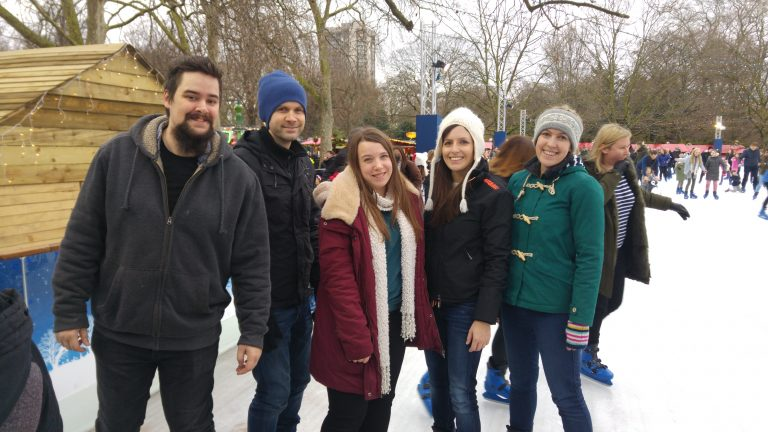 ice skating team photo